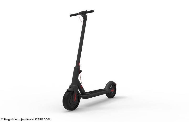 Klappbarer Elektroroller - www.e-scooters-welt.de